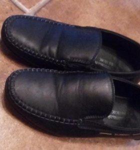 Школьные туфли (кожа)