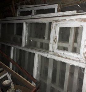 Рамы оконные стекленые