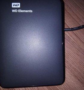 Новый, в упаковке.1 Тб Внешний жёсткий диск HDD WD