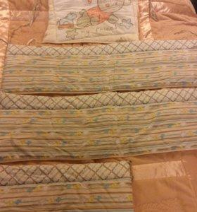 Комплект бампер в стандартную детскую кроватку