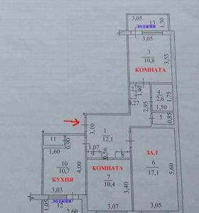 Квартира, 3 комнаты, 67.5 м²
