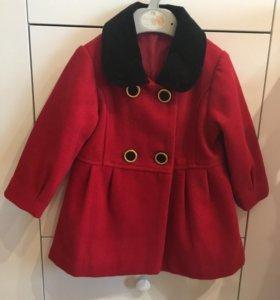 Пальто для девочки 12 месяцев