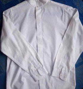"Рубашка школьная белая , ""Царевич"",146-152."