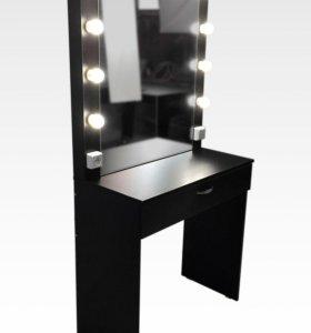 Стол гримёрный с подсветкой и зеркалом Ч-1
