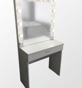 Стол гримёрный с подсветкой и зеркалом Б-1