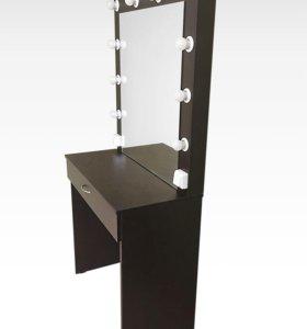 Стол гримёрный с подсветкой и зеркалом В-1
