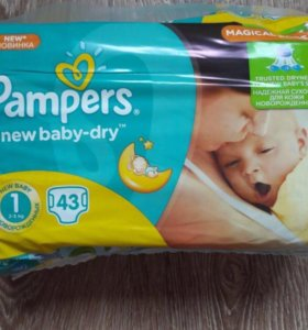 Pampers new baby-dry размер 1