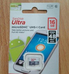 Карта памяти SanDisk Ultra 16gb