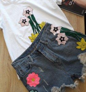 Комплект шорты+футболка размер M,L