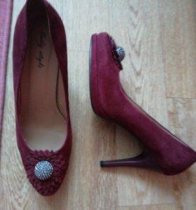 Новые туфли замша Lady style