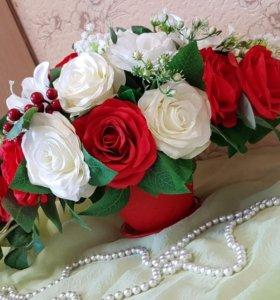 Интерьерный букет из роз