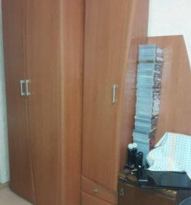 Фрагменты стенки, тумбочка и шкаф