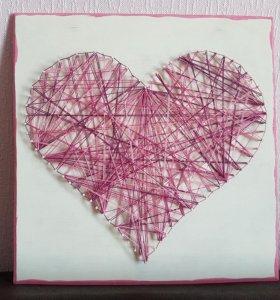Картина сердце большое