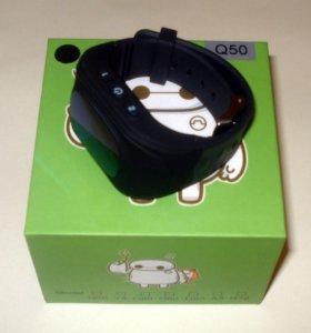 Умные детские часы smart baby Q50 черные с GPS