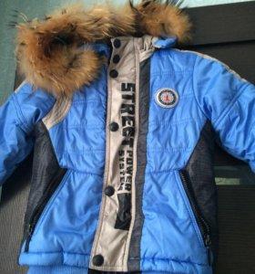 Пуховик куртка-комбинезон на мальчика