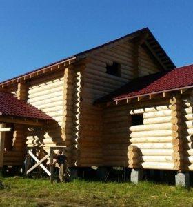 Строительство домов/бань из бруса и кругляка.