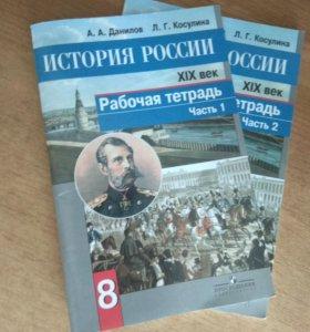История России рабочии тетради 8класс