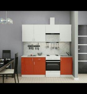 Кухонный гарнитур Олива Красная