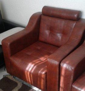 Новые кожаные кресла. Обмен