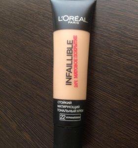 Стойкий тональный крем L'Oréal infallible, тон 22