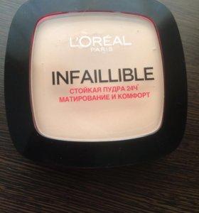 Стойкая матирующая пудра L'Oréal infallible