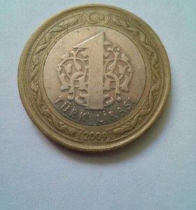 1 турецкая лира 2009 год