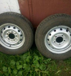 Шевроле Нива, колёса в сборе, резина кама-евро-228