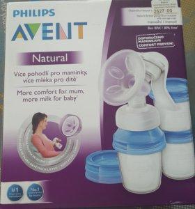 Молокоотсос Avent natural + бутылочки + соски