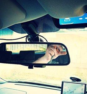 Видеорегистратор Зеркало, 2 Камеры + Парктроник