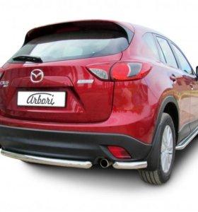 Защита заднего бампера для Mazda CX-5 2011-2014