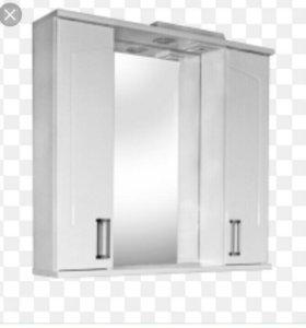 Зеркало для ванны со шкавчиком