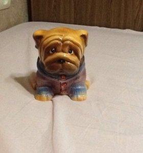Копилка - собачка керамическая