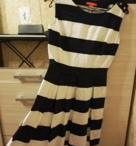 Свободное платье в полоску. Купленно в O'STIN.