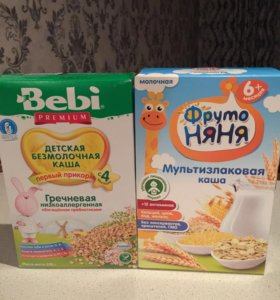 Каша гречневая bebi и мультизлаковая Фруто няня