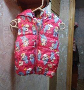 Новая жилетка для девочки от 2-3 лет