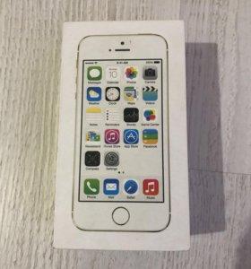 коробка iphone 5s, gold, 16gb