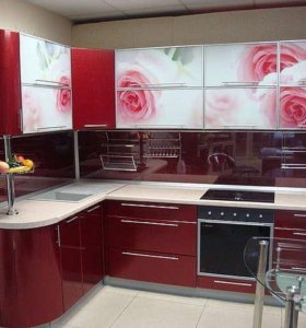 Кухня (цвет карминовый) 003380