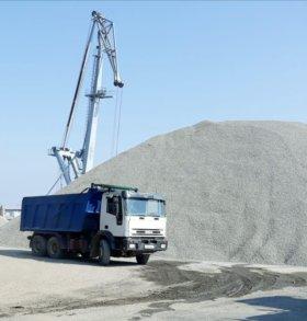 Песок морской, щебень с доставкой