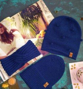 Вязаные комплекты шапка+снуд