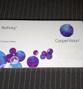 Контактные линзы Biofinity (6) Made In UK -0,75