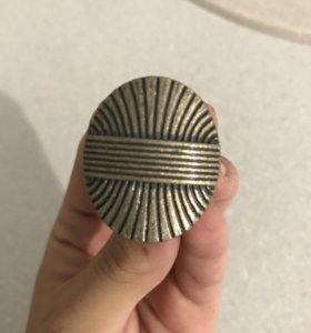 Ручка кнопка мебельная к-55189 античная бронза