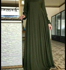 Платье из абайной ткани