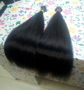 Чёрные волосы на капсулах