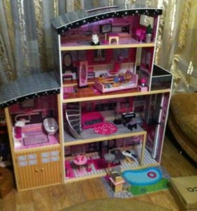 Кукольный домик Barbie Sparkle Mansion KidKraft