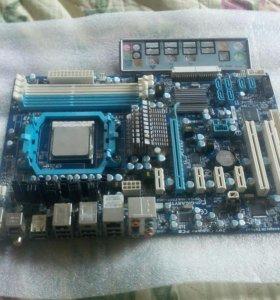Комплект,материнка+четырехядерный процессор