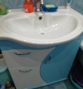 Тумба с мойкой для ванны