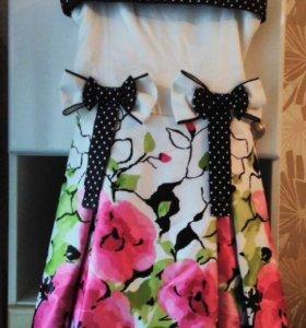 Платье нарядное с цветочным принтом