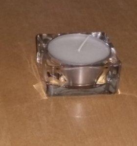 Подсвечник + свеча (новый)