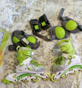 Роликовые коньки детские, новые