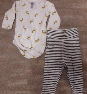 Боди и штанишки на 3-6 месяцев